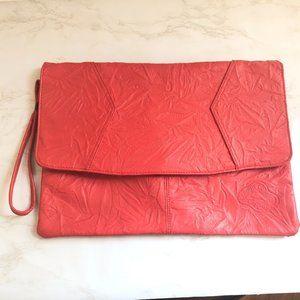 Vintage Dover Red 80's Clutch/Purse Bag Handbag